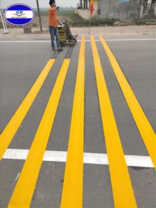 Bột sơn dẻo nhiệt phản quang màu vàng